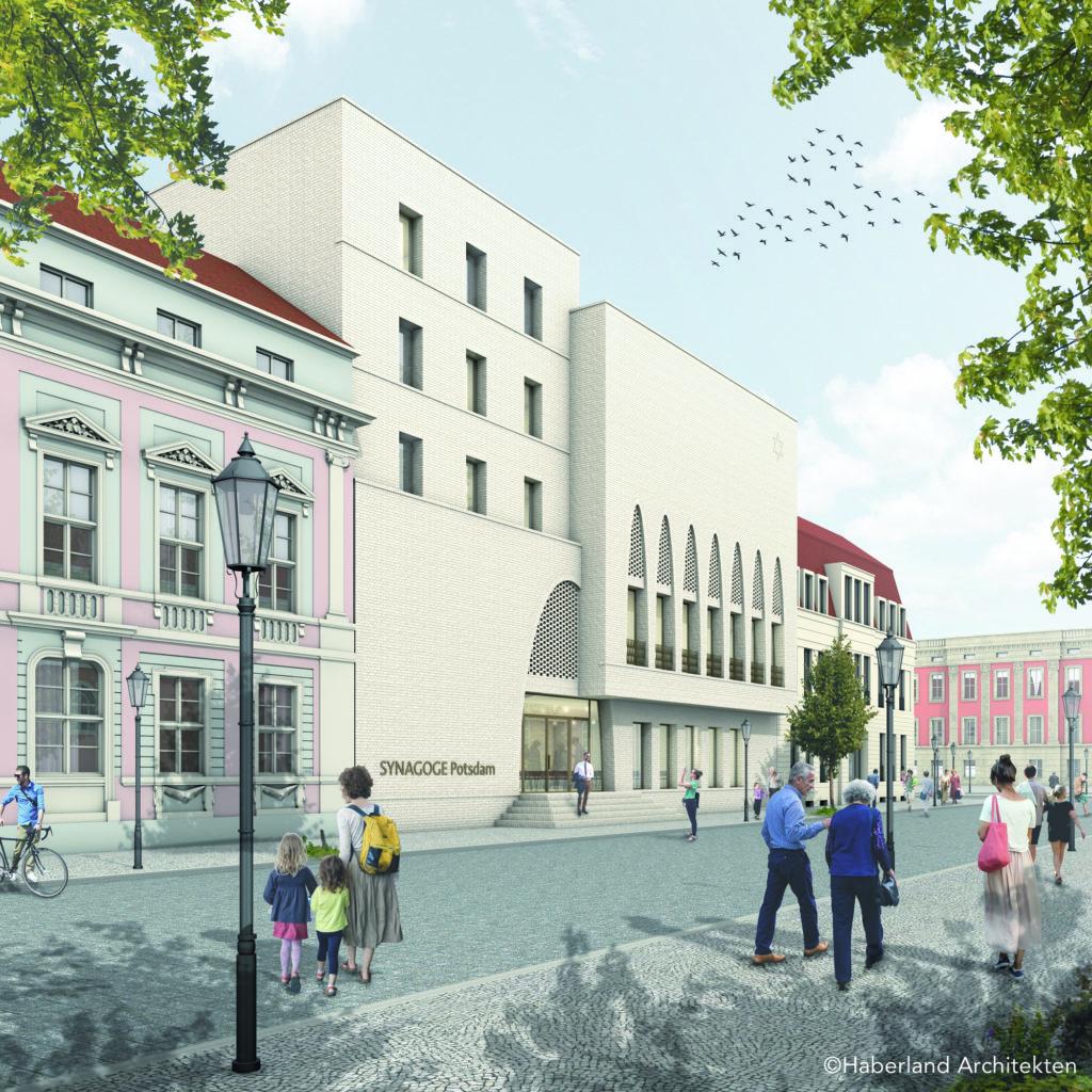 Haberland Architekten: Synagoge Potsdam, Blick Richtung